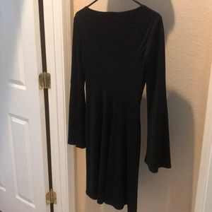 Cache Dresses - Cache Black dress with bell long sleeves